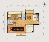 锦绣时尚名居,高层81.35平方3房,送空中花园30平方,包改名。